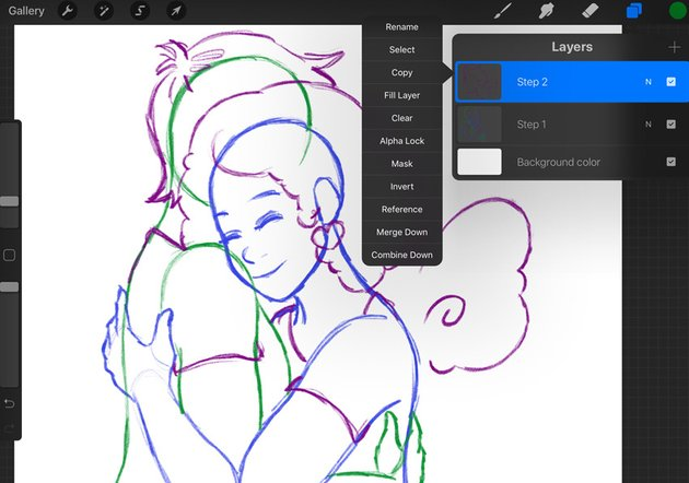 Example of Sketch Progress