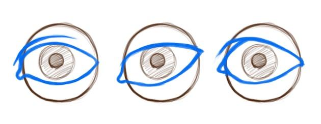 Example of eye lid variation