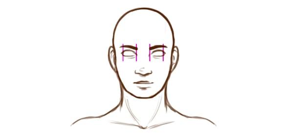 Example of eye spacing