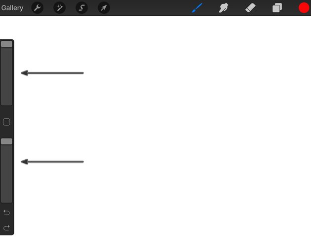 Size and Opacity Sliders