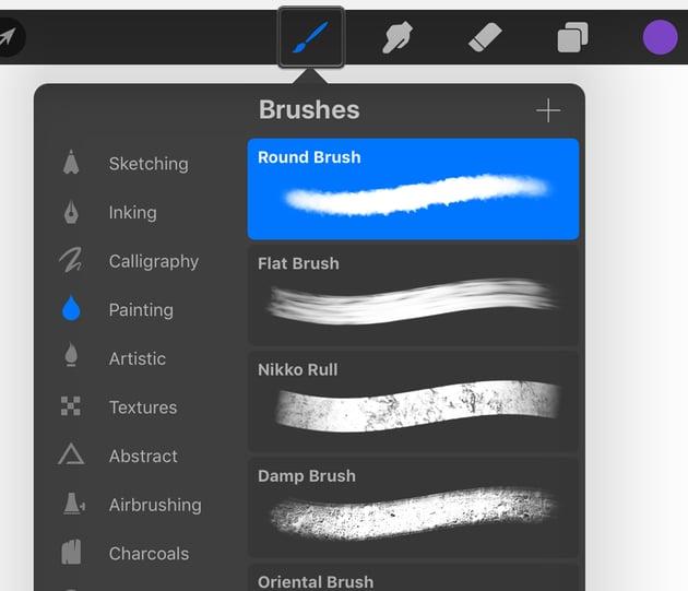 Opening your Procreate Brushes