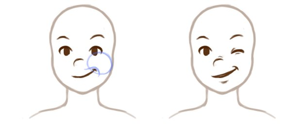 Example of face muscles