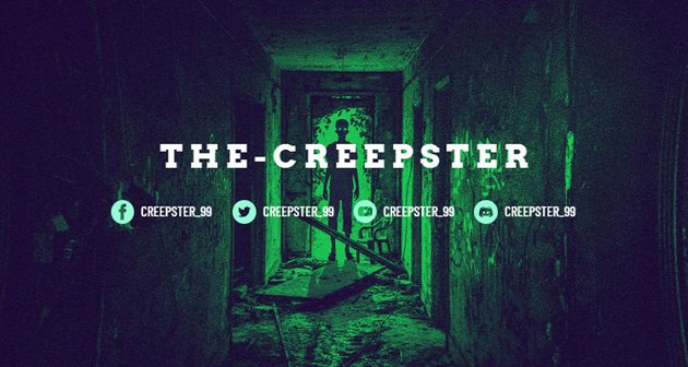 Creepy Twitch Banner Template with a Horror Theme