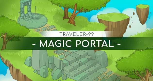 Twitch Banner Maker with a Nature Fantasy Land