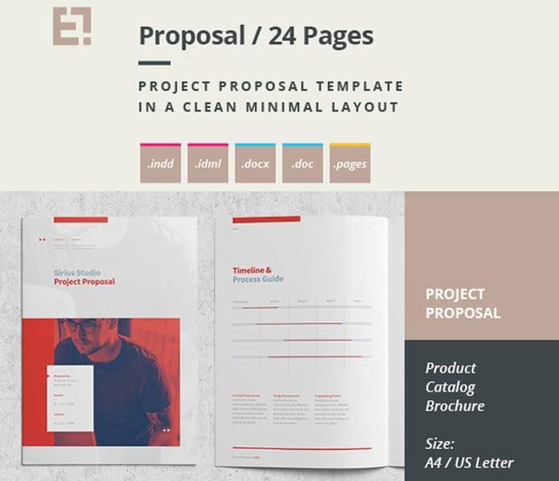 Minimal ProposalBrochure Template