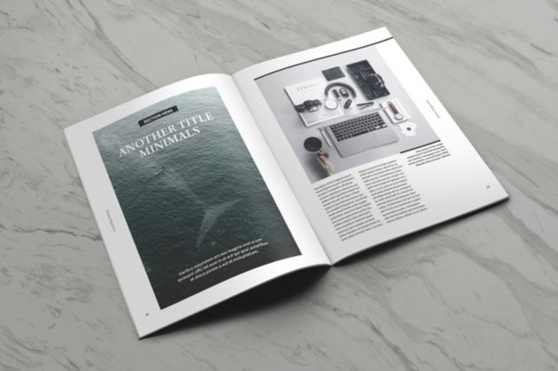 Moore Blank Magazine Cover Template