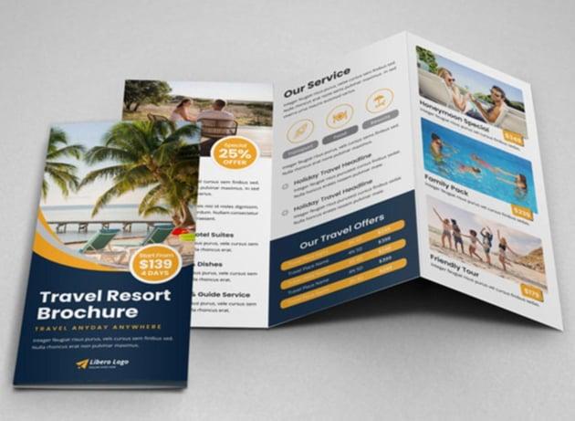 Travel Resort Trifold Brochure Design