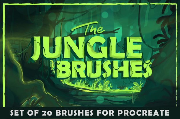 The Jungle Brushes for Procreate