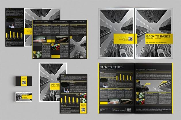 InDesign Brochure Flyer Business Card Set