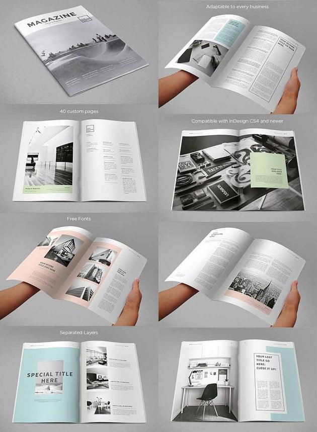 modern magazine template designs