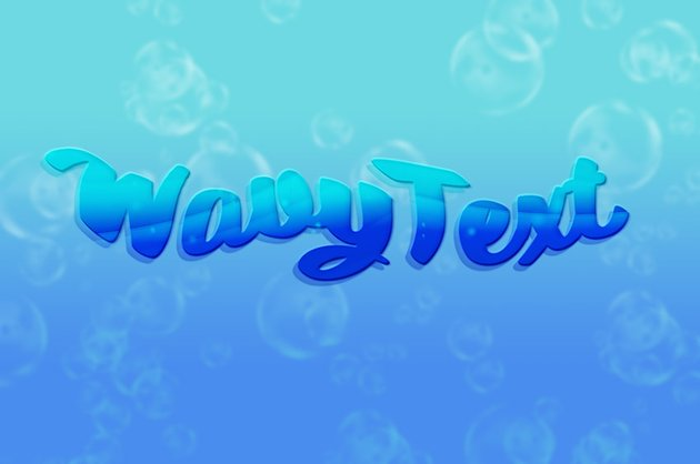 Sample of Final Wavy Text Effect