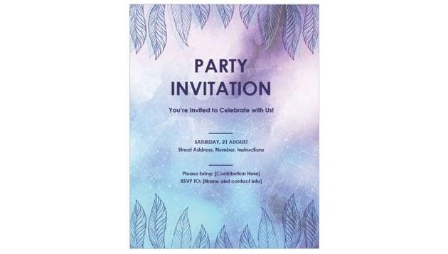 Invitational Flyer Template