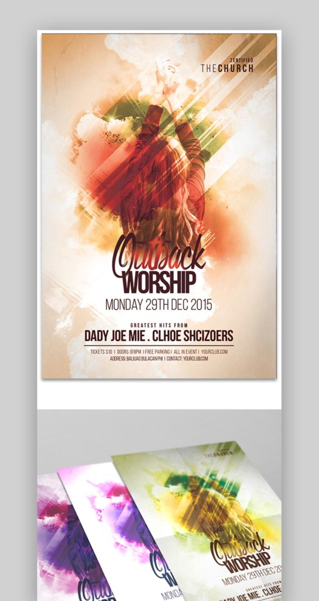 Adonai and Hallelujah Church Flyer