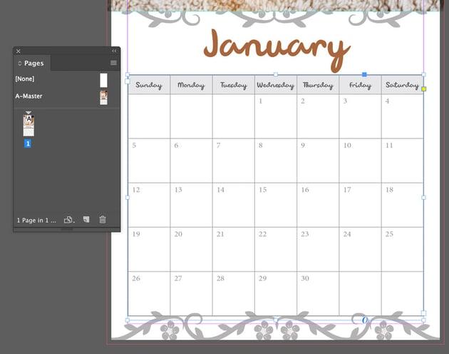 Adjusting the calendar dates
