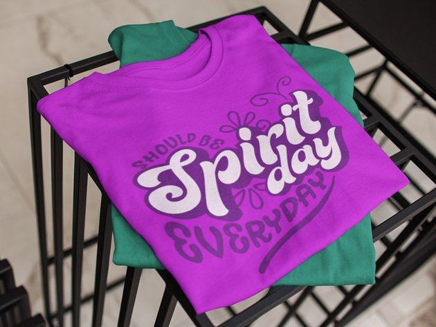 Example of typographic tshirt design