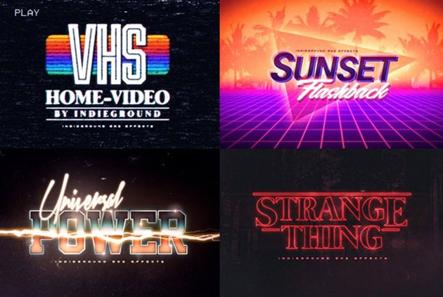 80s Photoshop Text Effects