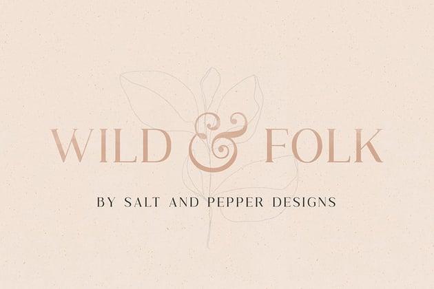 Wild and Folk Font