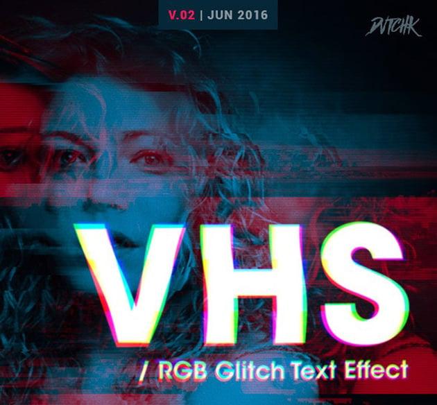 RGB Glitch Text Effect