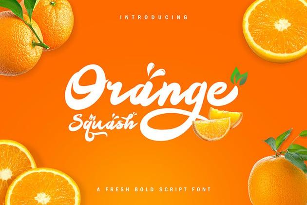 Orange Squash Script Font by Khurasan Studio