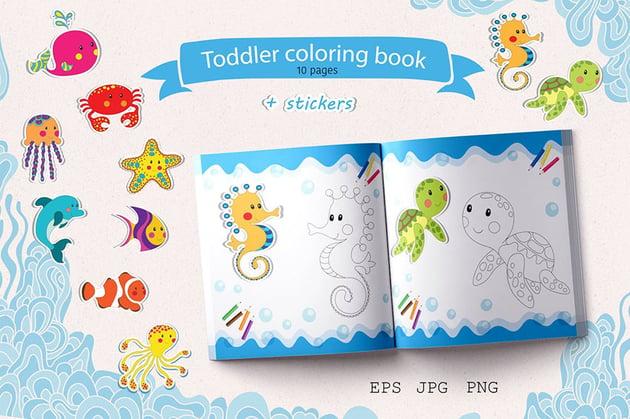 Toddler Coloring Book Vector Art