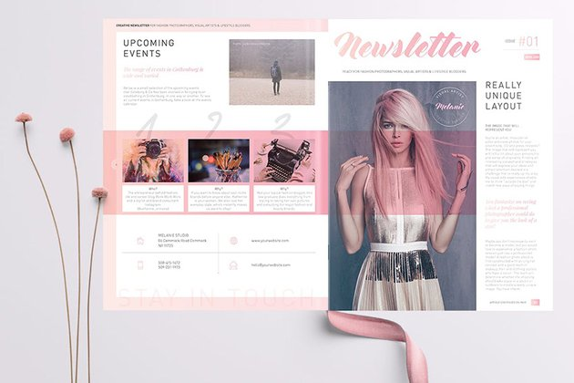 Creative Newsletter Layout Template