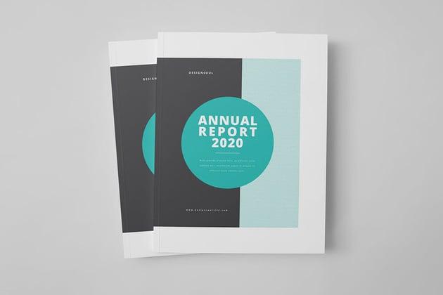 Professional Annual Report Design Template