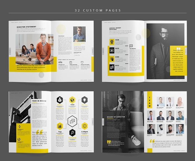 Annual Report Template Layout Designs