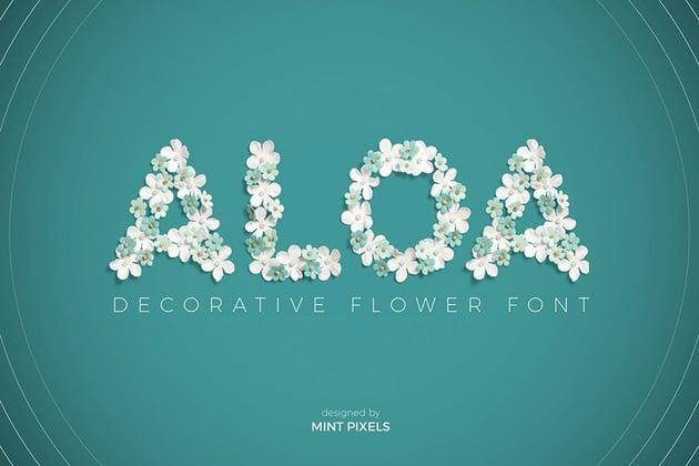Flower Wedding Font