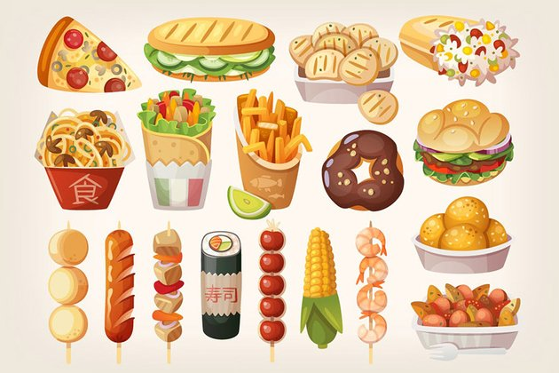 Street Food Icons by moonery