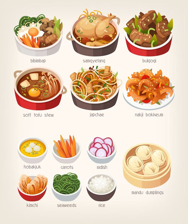 Korean Food Illustrations