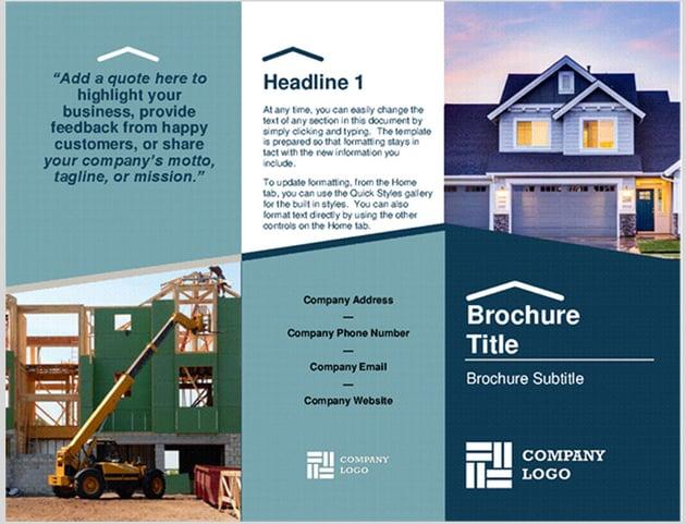 Microsoft Word Builder Brochure
