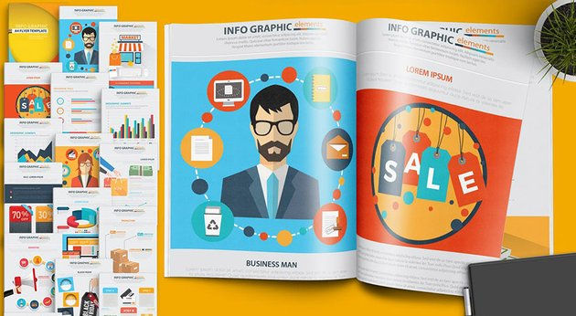 19 Page Infographic Flyer Design