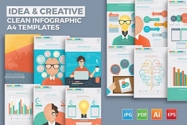 Idea and Creative Infographic Design