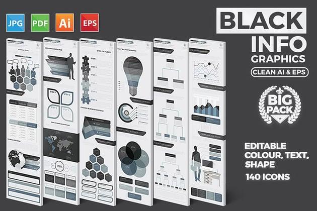 Black Pack Infographic Design