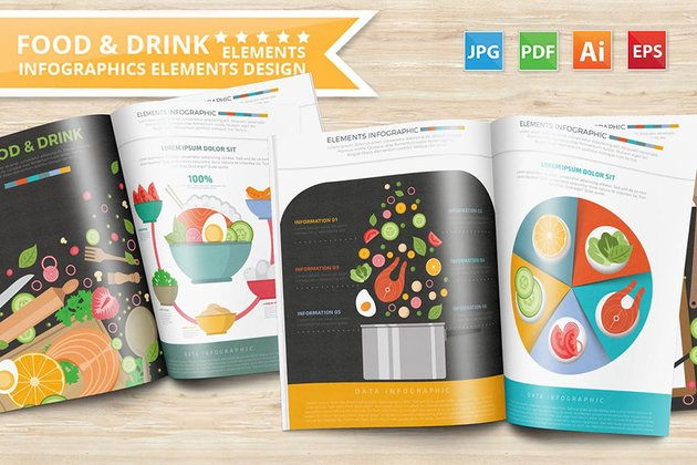 Food Drink Infographic Template