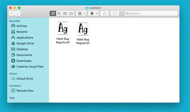 Font File Types