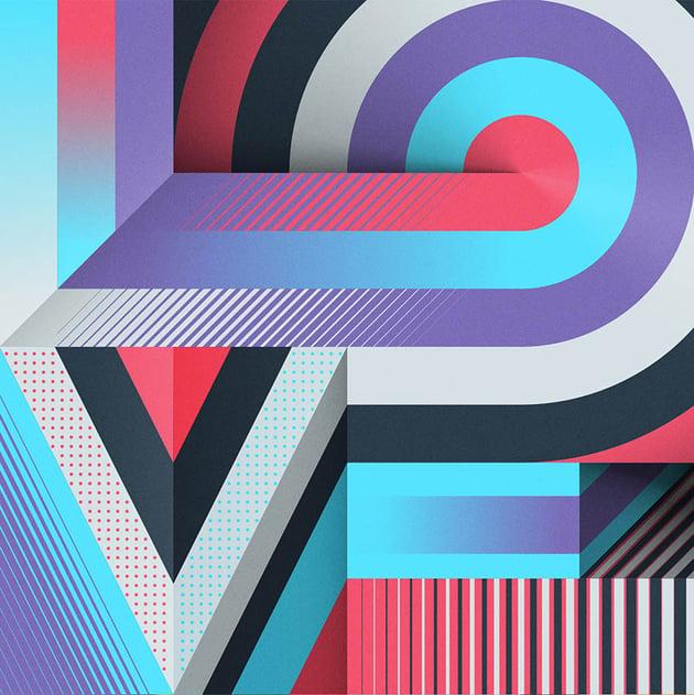 Grid Typo Love by Mario De Meyer