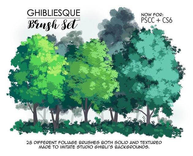 Ghibliesque Brush Set by Amy Stoddard