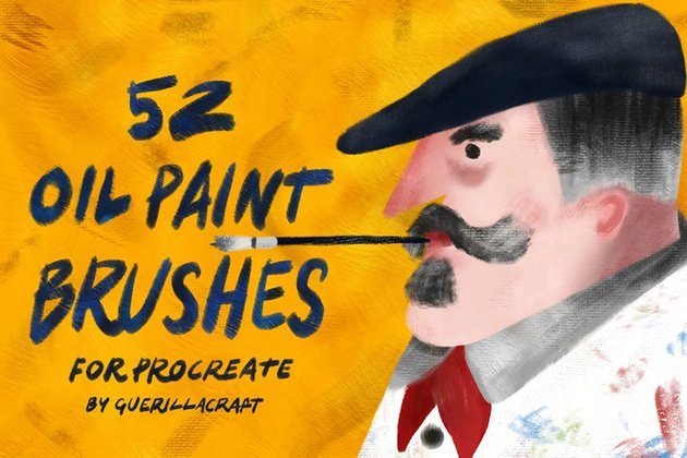 Oil Paint Brushes for Procreate by guerillacraft
