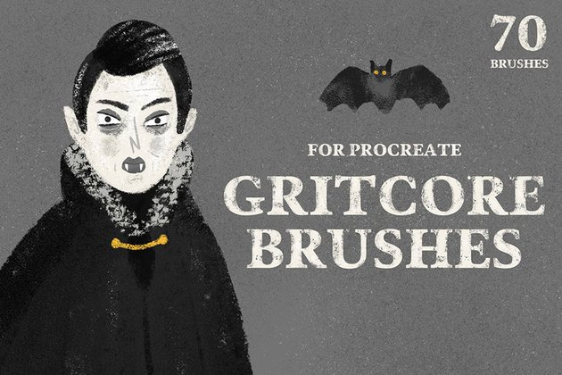 Gritcore Brushes for Procreate by guerillacraft
