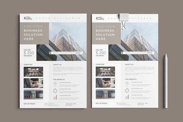 Properties Flyer Design Template