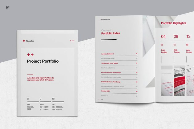 Affinity Publisher Portfolio Template