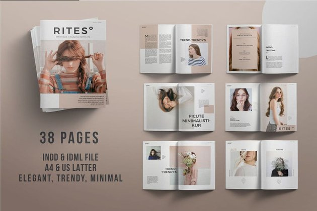 Multipage Magazine Design Template