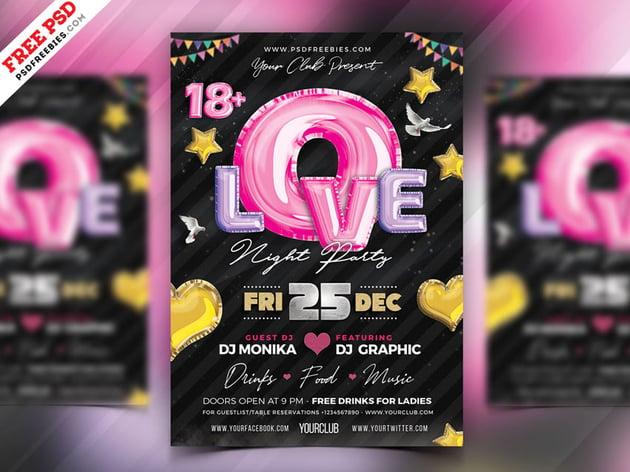 Romantic Music Party Flyer