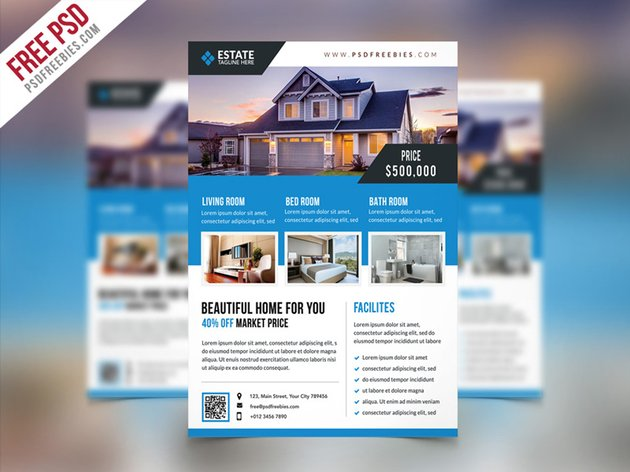 Free Clean Real Estate Flyer Template