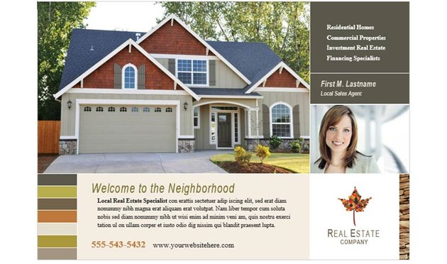 Free Colorful Real Estate Flyer