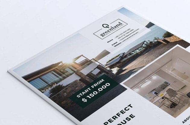 Greenland Real Estate Agent Flyer Template