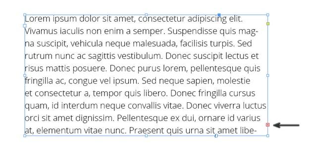 InDesign Overset Text