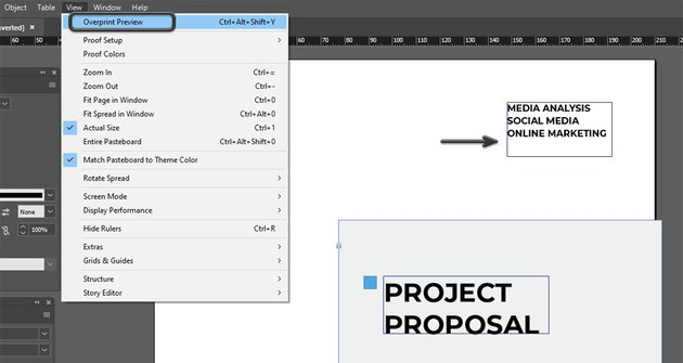 Overprint Preview in InDesign
