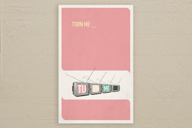 Turn Me poster design copyright 2020 Michael McAleer
